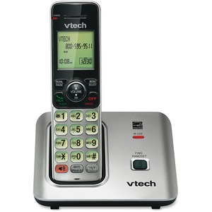 VTech CS6619 DECT 6.0 Expandable Cordless Phone with Caller ID/Call Waiting, Silver with 1 Handset