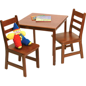 Lipper 514C Square Table & 2 Chairs Set - Cherry Finish