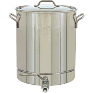 Bayou Classic 64 Quart Stainless Steel Stockpot with Spigot - 1064