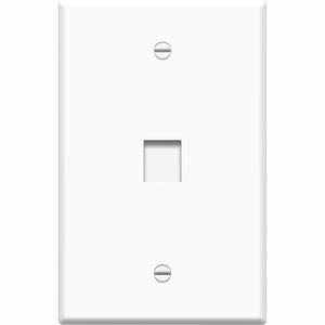 4XEM 1 Port/Outlet RJ45 Cat5/Cat6 Ethernet Wall Plate (White)