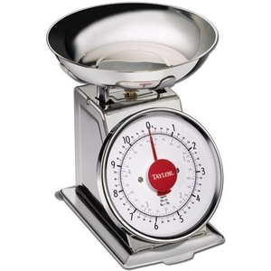 Taylor 3710 11 lb Stainless Steel Kitchen Scale