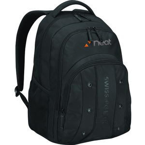 "Wenger UPLOAD Carrying Case (Backpack) for 16"" Notebook, Bottle, Umbrella, Cable, Charger, Business Card - Black"