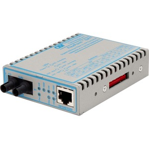 FlexPoint 10/100/1000 Gigabit Ethernet Fiber Media Converter RJ45 ST Multimode 550m