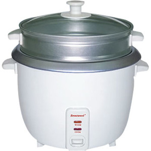 Brentwood 5 Cup Rice Cooker with Steamer White