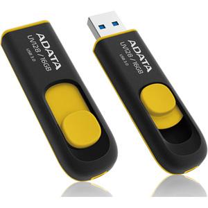 ADATA DASHDRIVE UV128 16GB USB 3.0 FLASH DRIVE AUV128-16G-RBY (BLACK/YELLOW)