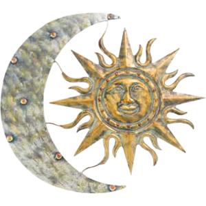 """Gardman Aztec Sun & Moon Wall Art - 26"""" L X 24"""" W"""