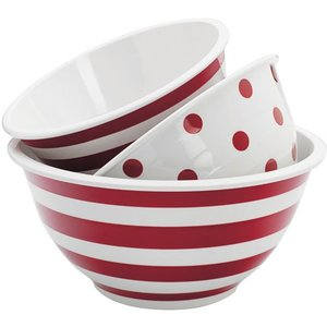 Anchor 3pc Decorated Melamine Mix Bowl Set