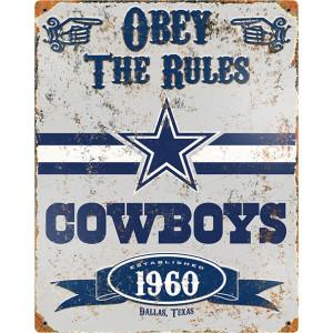 Party Animal Cowboys Vintage Metal Sign
