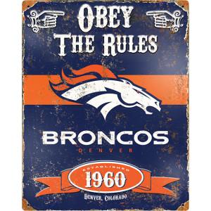 Party Animal Broncos Vintage Metal Sign
