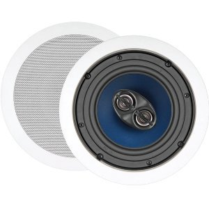 5-80W 6.5IN TWO-WAY DUAL VOICE COIL STEREO CEILING SPEAKER EA