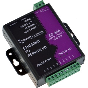 Brainboxes Ethernet to Digital + RS232 + Switch