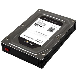 """StarTech.com 2.5"""" to 3.5"""" SATA Aluminum Hard Drive Adapter Enclosure with SSD/HDD Height up to 12.5mm"""
