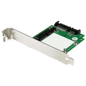 StarTech.com SATA to mSATA SSD Adapter w/ Full and Low Profile Brackets - SATA to Mini SATA Converter Card