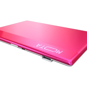 MOTA 800 mAh Credit Card-Sized Portable Charge Card - Pink