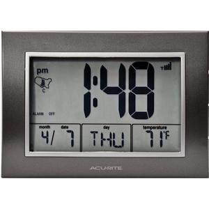 AcuRite Atomic Alarm Clock with Time / Date / Temperature 13131