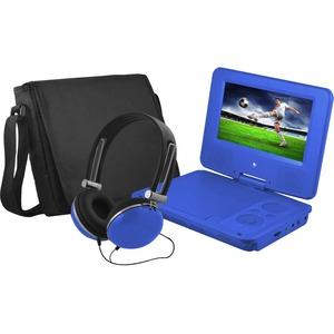 """Ematic EPD707 Portable DVD Player - 7"""" Display - 480 x 234 - Blue"""