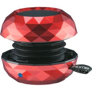 iHome Speaker System - Battery Rechargeable - Wireless Speaker(s) - Red