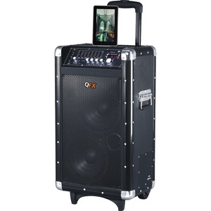 QFX PBX-3080BT Speaker System - Portable - Battery Rechargeable - Wireless Speaker(s) - Black