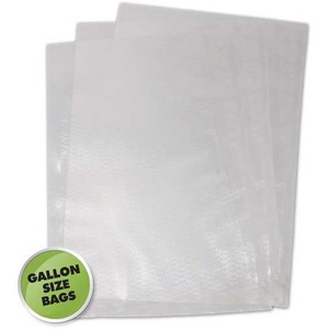 "11"" x 16"" - 100 Bags Commercial Grade Vacuum Sealer Bags Gallon Sized, 2-Ply, 3 Mil"