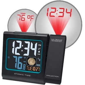 CLOCK ALARM ATOMIC W/TEMP-DATE