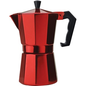 Primula 6 Cup Aluminum Stovetop Espresso Maker - Red