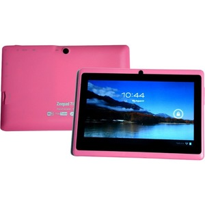 """Zeepad 7DRK Tablet - 7"""" - 512 MB DDR3 SDRAM - Rockchip Cortex A9 RK3026 Dual-core (2 Core) 1.50 GHz - 4 GB - Android 4.2 Jelly Bean - 800 x 480 - Pink"""