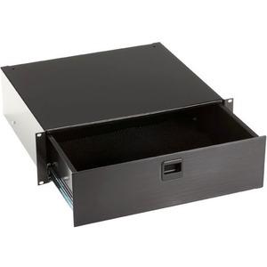 Black Box Rackmount Media Storage Drawer, 3U, Black