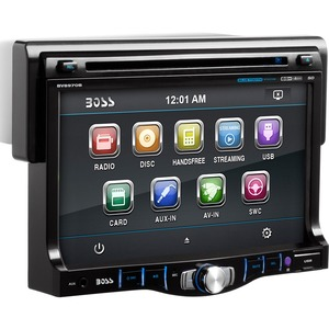 BOSS AUDIO BV8970B Single-DIN 7 inch Touchscreen DVD Player, Receiver, Bluetooth, Detachable Front Panel, Wireless Remote
