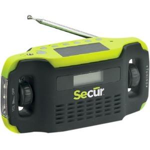 SECUR Digital Solar Radio & LED Flashlight