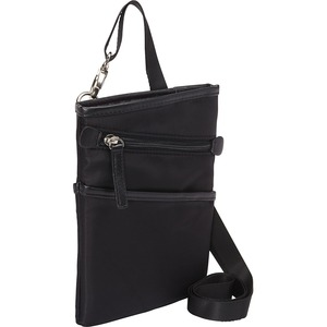 """WIB Dallas Carrying Case for up-to 7"""" Tablet, eReader - Black - Twill Polyester"""
