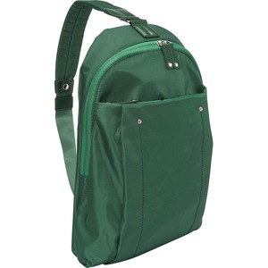 """WIB Miami City Slim Backpack for up-to 14.1"""" Notebook , Tablet, eReader - Green - Twill Polyester"""