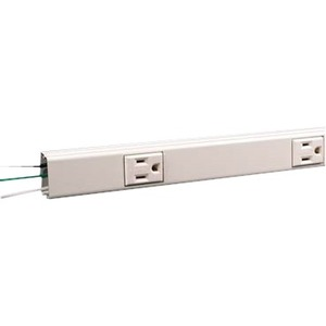 Wiremold Plugmold Hard-Wired Multi-Outlet Strip, Ivory