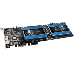 """Sonnet Tempo SSD Pro 6Gb/s SATA Dual 2.5"""" SSD PCIe 2.0 Card with eSATA Ports"""