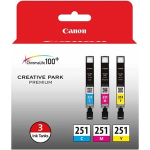 Canon CLI-251 Original Ink Cartridge Multi-pack - Cyan, Magenta, Yellow