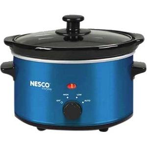 Nesco 1.5 Quart Slow Cooker (Metalic Blue)