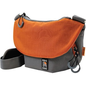 """Ape Case Tech Carrying Case (Messenger) for 7"""" Camera, Lens, Camera Flash, iPad mini, Tablet, Filter, Memory Card, Accessories - Orange, Gray"""