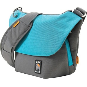 """Ape Case Tech Carrying Case (Messenger) for 11"""" Camera, Lens, Camera Flash, iPad, Tablet, Filter, Memory Card, Accessories, iPad mini - Teal, Gray"""
