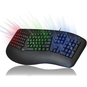 Adesso Tru-Form 150 - 3-Color Illuminated Ergonomic Keyboard