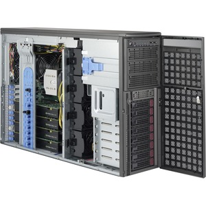 Supermicro SuperWorkstation 7048GR-TR Barebone System - 4U Tower - Intel C612 Express Chipset - Socket LGA 2011-v3 - 2 x Processor Support - Black