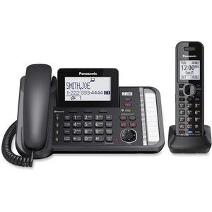 Panasonic Link2Cell KX-TG9581B DECT 6.0 Cordless Phone - Black