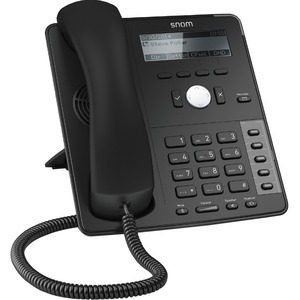Snom Global D715 IP Phone - Cable - Desktop, Wall Mountable - Black