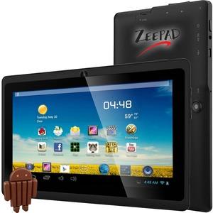 """Zeepad 7DRK-Q Tablet - 7"""" - 512 MB DDR3 SDRAM - Allwinner Cortex A7 A33 Quad-core (4 Core) 1.80 GHz - 4 GB - Android 4.4 KitKat - 800 x 480 - Black"""