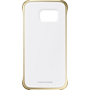 Samsung Galaxy S6 edge Protective Cover, Clear Gold