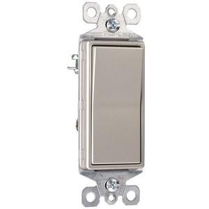 Pass & Seymour TradeMaster 15A 3-Way Decorator Switch, Nickel