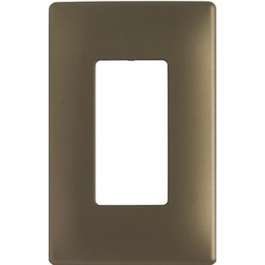 Pass & Seymour One-Gang Screwless Decorator Wall Plate, Antique Brass
