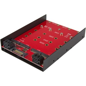 StarTech.com 4x M.2 SATA mounting adapter for 3.5in drive bay - 4-drive NGFF to SATA adapter