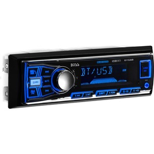 BOSS AUDIO 611UAB Single-DIN MECH-LESS Multimedia Player (no CD or DVD), Receiver, Bluetooth