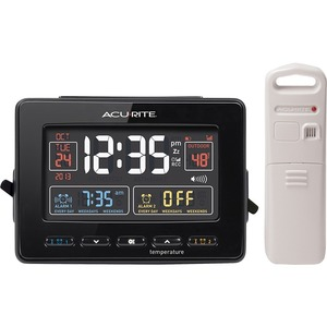 Chaney Instrument Atomic Clock with Dual Alarm, USB Charger and Temperature