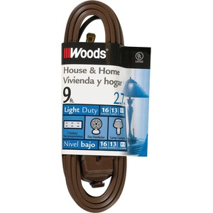 Coleman Cable 16/2 9' CUBE TAP EXTENSION CORD BROWN