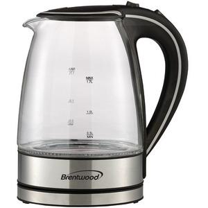 Brentwood KT-1900BK 1.7L Borosilicate Glass Tea Kettle in Black